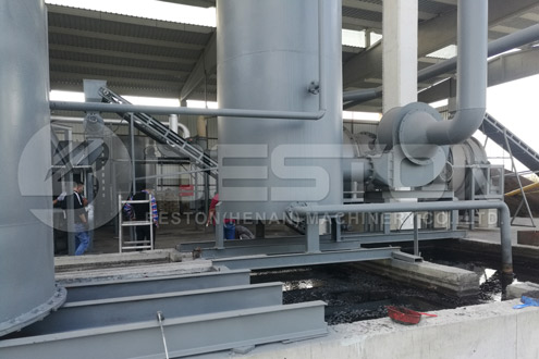 Installation of BST-50 Charcoal Making Plant in Turkey
