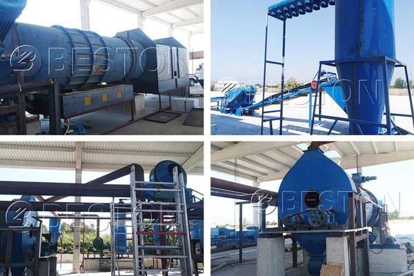 Beston Charcoal Making Plant Installed in Turkey